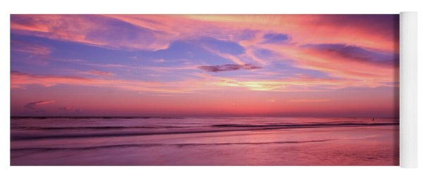 Yoga Mat featuring the photograph Pink Sky And Ocean by Doug Camara