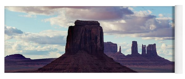 Pink Clouds Over Monument Valley Yoga Mat