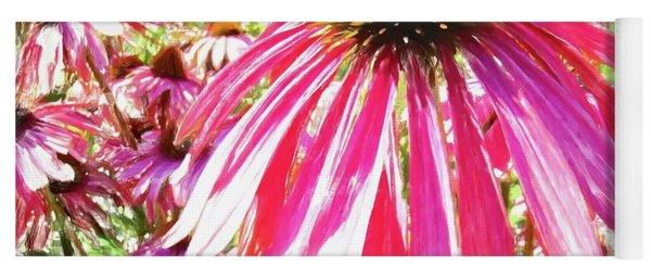 Pink Coneflower Sweet Yoga Mat