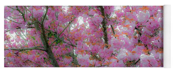 Pink Cotton Candy Tree Yoga Mat