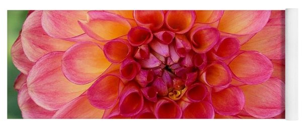 Pink Dahlia Yoga Mat