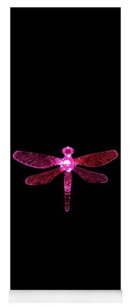 Pink Dragonfly Yoga Mat