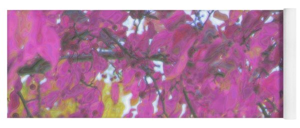 Pink Fall Branches Yoga Mat