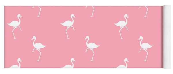 Pink Flamingos Pattern Yoga Mat