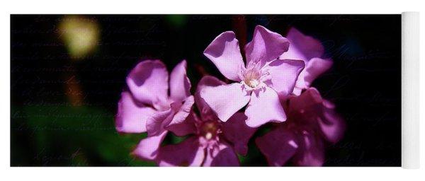 Pink Floral Artistry Yoga Mat