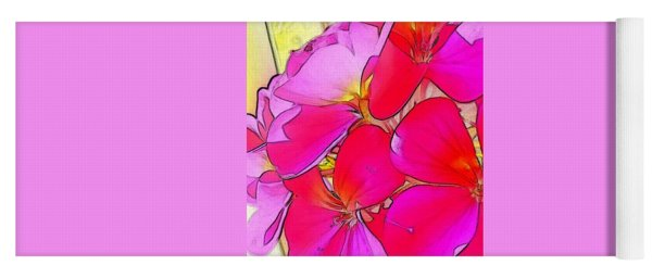 Pink Flower Yoga Mat