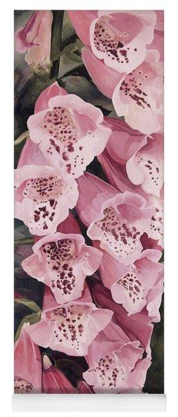 Pink Foxglove Yoga Mat
