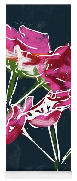 Pink Geraniums- Art By Linda Woods Yoga Mat