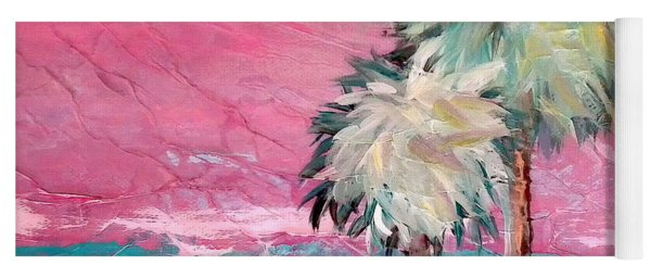 Pink Horizon Palms Yoga Mat