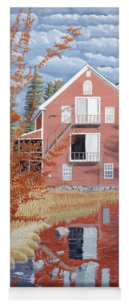 Pink House In Autumn Yoga Mat
