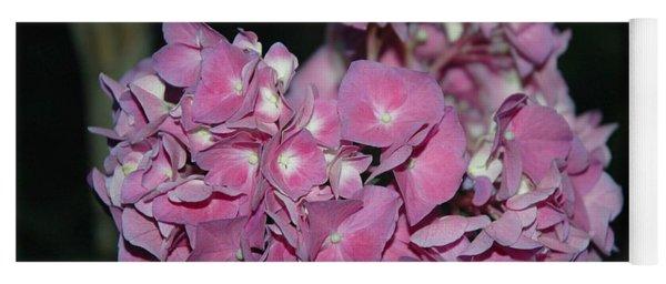 Pink Hydrangea Yoga Mat