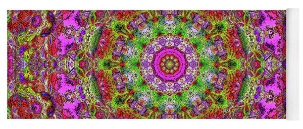 Pink Kaleidoscope Fall Branches Yoga Mat