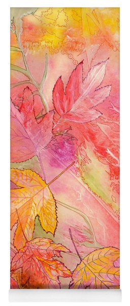 Pink Leaves Yoga Mat