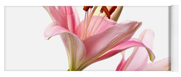 Pink Lilies 03 Yoga Mat