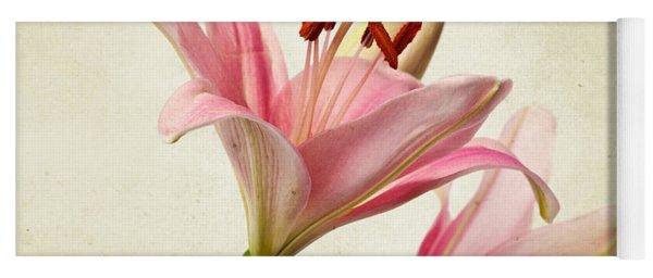 Pink Lilies Yoga Mat