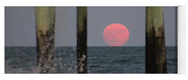 Pink Moon Rising Yoga Mat