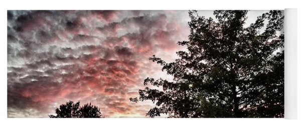 Pink Night Sky Yoga Mat
