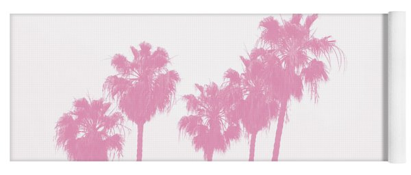 Pink Palm Trees- Art By Linda Woods Yoga Mat