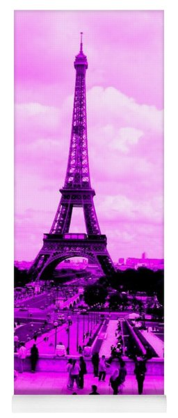 Yoga Mat featuring the photograph Pink Paris by Michelle Dallocchio