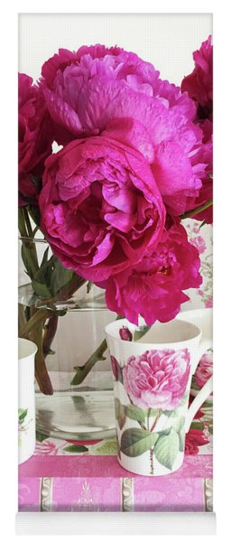 Pink Peonies, Red Peonies, Peony Flowers, Peonies Peony Teacups Kitchen Art Home Decor Yoga Mat