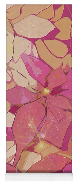 Pink Poinsettias Yoga Mat