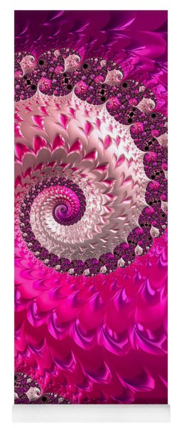 Pink Purple And Red Luxe Girly Spiral Yoga Mat