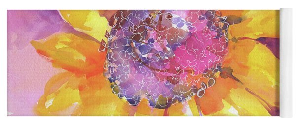 Pink Purple Yellow Sunflower  Yoga Mat