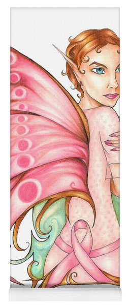 Pink Ribbon Fairy For Breast Cancer Awareness Yoga Mat