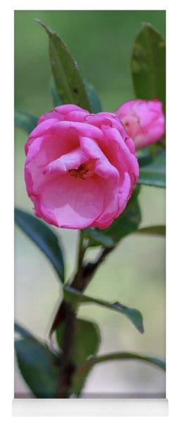 Pink Rose Flower Yoga Mat