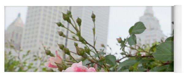 Pink Rose Of Tulsa Yoga Mat