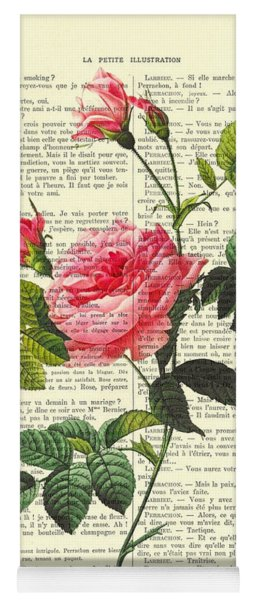 Pink Roses, Valentines Gift Yoga Mat