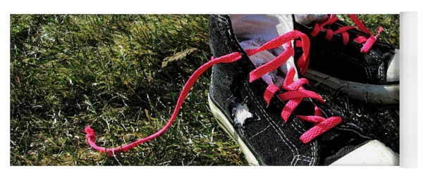 Pink Shoe Laces Yoga Mat