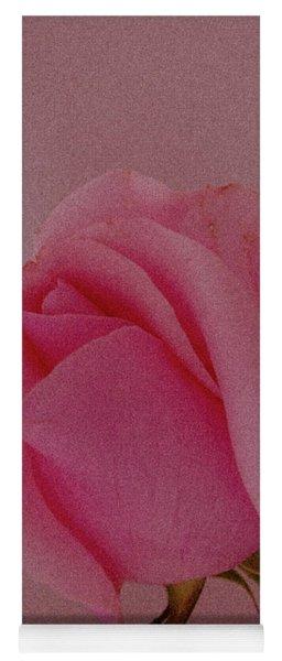 Pink Single Rose Yoga Mat