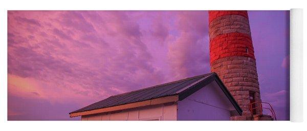 Pink Skies At Cape Moreton Lighthouse Yoga Mat
