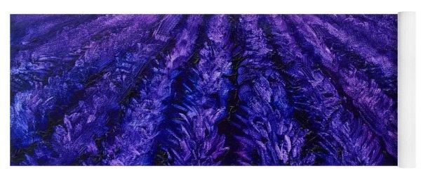 Abstract Lavender Field Landscape - Contemporary Landscape Painting - Amethyst Purple Color Block Yoga Mat