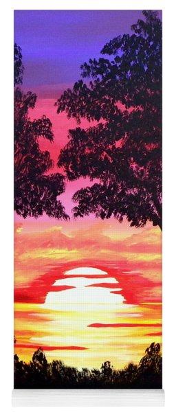 Pink Sunset Yoga Mat