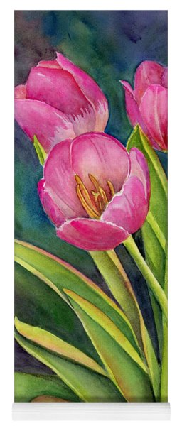 Pink Tulip Twist Yoga Mat