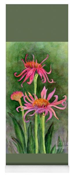 Pink Tutus - Coneflowers Yoga Mat