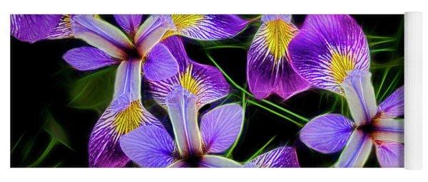 Pinwheel Purple Iris Glow Yoga Mat
