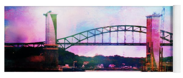 Piscataqua River Bridge From Harborwalk Park, Portsmouth New Hampshire Yoga Mat