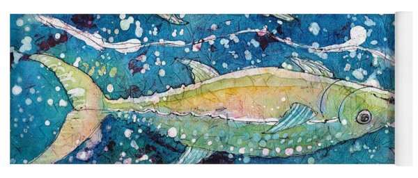Yoga Mat featuring the painting Pisces by Ruth Kamenev