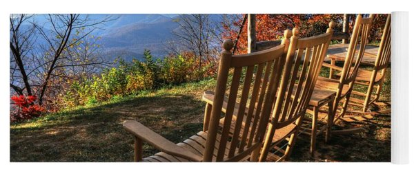 Pisgah Inn's Rocking Chairs Yoga Mat
