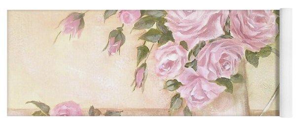 Pitcher Of  Pink Roses  Yoga Mat
