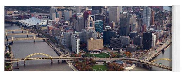 Pittsburgh 8 In Color  Yoga Mat