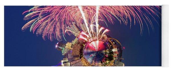 Pittsburgh Fireworks 2 Little Planet  Yoga Mat