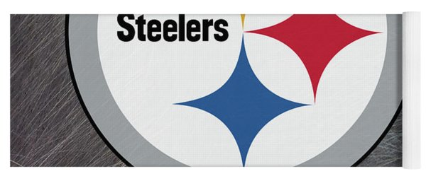 Pittsburgh Steelers On An Abraded Steel Texture Yoga Mat
