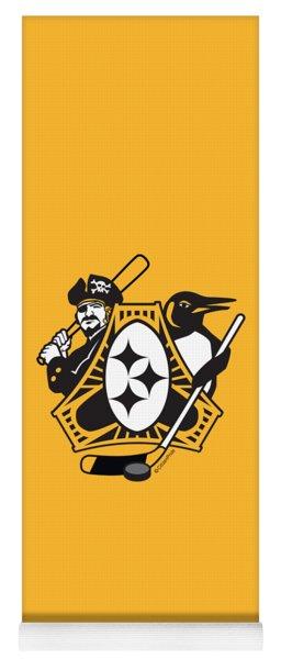 Pittsburgh-three Rivers Roar Sports Fan Crest Yoga Mat