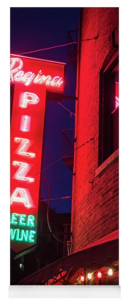 Pizzeria Regina Boston Ma North End Thacher Street Neon Sign Yoga Mat