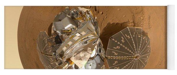 Planet Mars Via Phoenix Mars Lander Yoga Mat