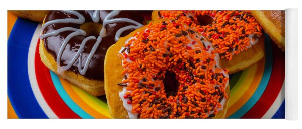 Plate Of Donuts Yoga Mat
